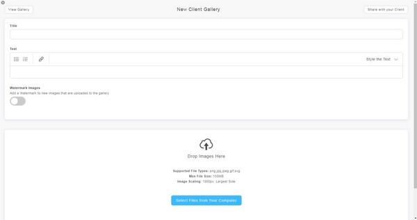 Portfoliobox client gallery