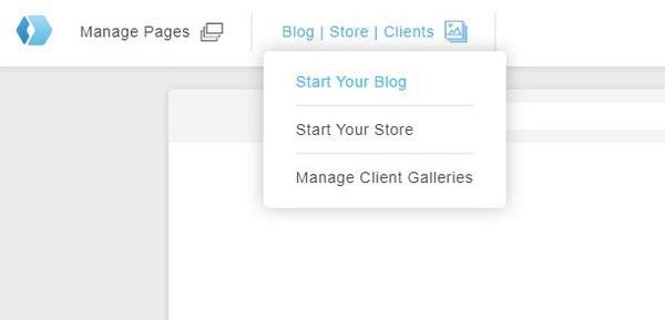 Portfoliobox manage pages
