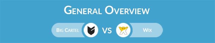 Big Cartel vs Wix: General Overview
