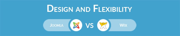 Joomla vs Wix: Design and Flexibility