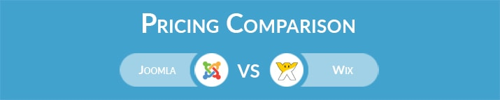 Joomla vs Wix: General Pricing Comparison