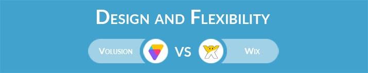 Volusion vs Wix: Design and Flexibility