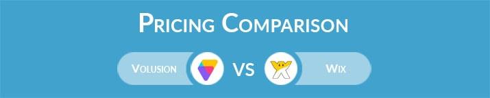 Volusion vs Wix: General Pricing Comparison