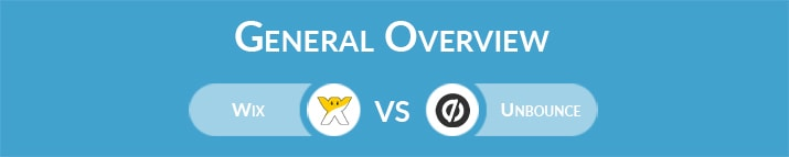 Wix vs Unbounce: General Overview