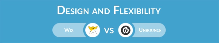 Wix vs Unbounce: Design and Flexibility