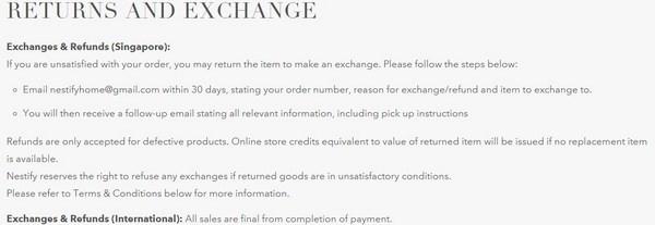 Nestify refund policy