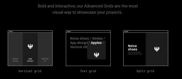 Semplice advanced portfolio grid