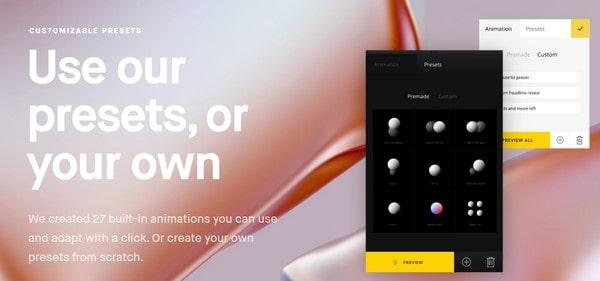Semplice design presets