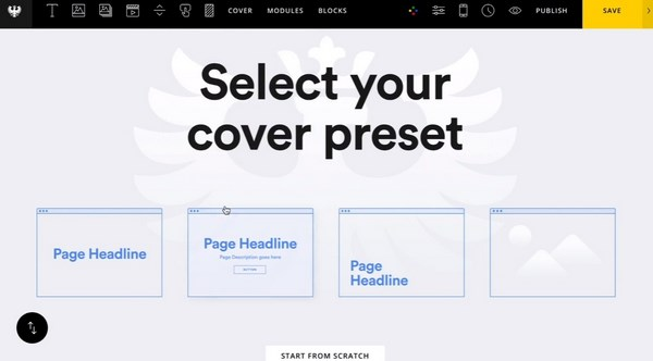 Semplice select your cover preset
