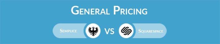 Semplice vs Squarespace: General Pricing