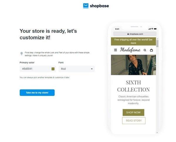 ShopBase choose color