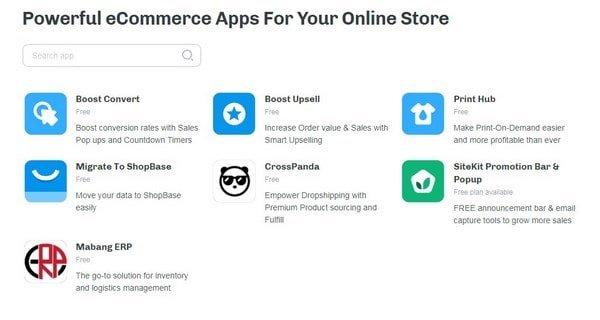 ShopBase integrations