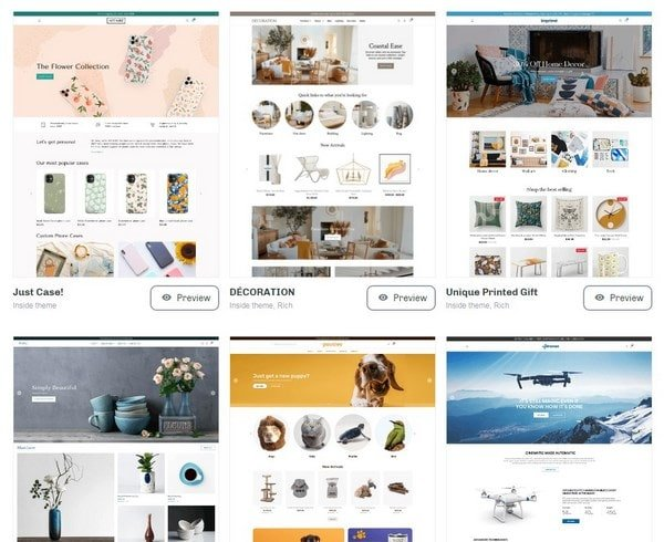 ShopBase templates