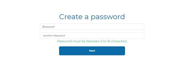 Subhub Create a password