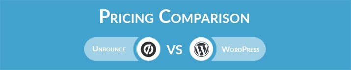 Unbounce vs WordPress: General Pricing Comparison
