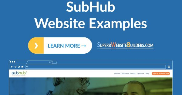 SubHub Website Examples