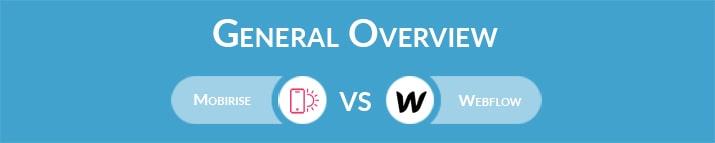 Mobirise vs Webflow: General Overview