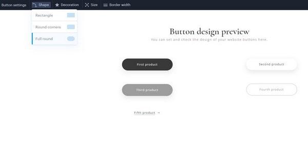 Webnode Button Design