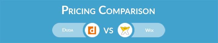 Duda vs Wix: General Pricing Comparison