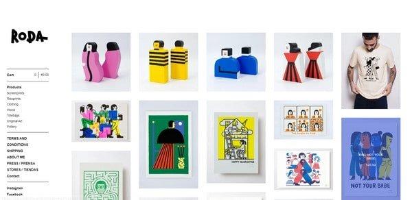 Jose A. Roda – printed clothes and T-shirts