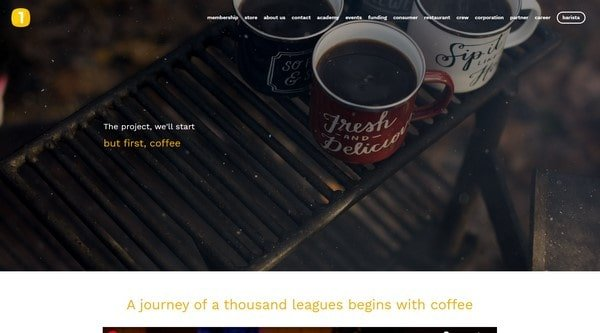 But first, coffee – coffee lovers community with a digital store