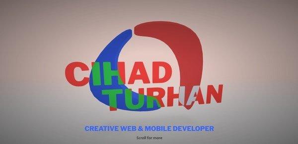 Cihad Turhan – web designer