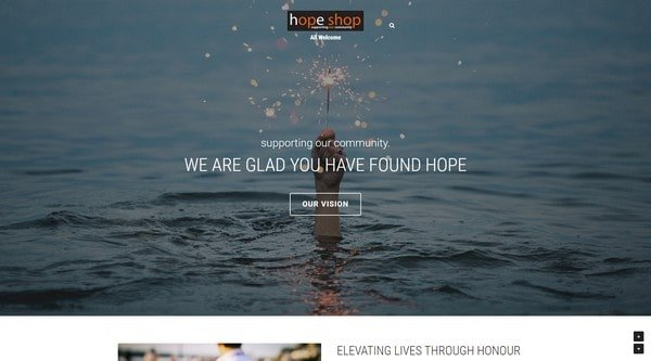 Hope Shop – charitable organization and support community