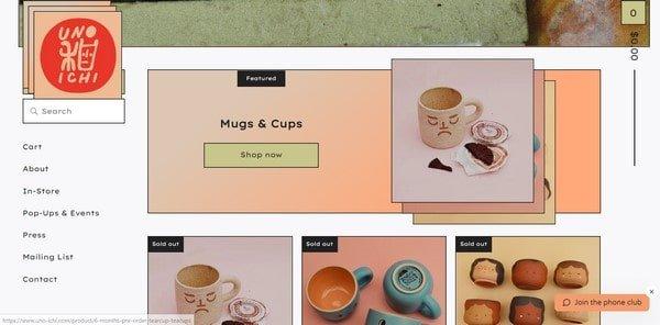 Uno Ichi – handmade cups and mugs