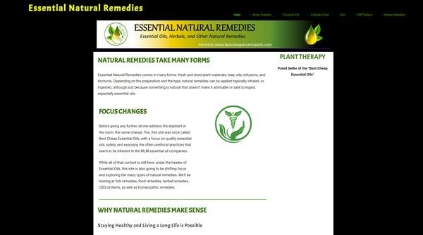 Essential Natural Remedies – an online store