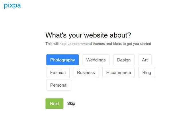 Pixpa choose the business niche