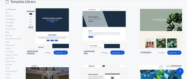 SiteJet template library