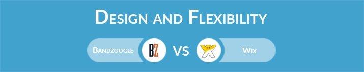 Bandzoogle vs Wix: Design and Flexibility