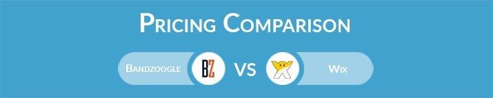 Bandzoogle vs Wix: General Pricing Comparison