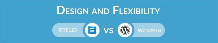 SITE123 vs WordPress: Design and Flexibility