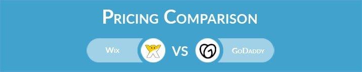 Wix vs GoDaddy: General Pricing Comparison