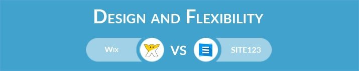 Wix vs SITE123: Design and Flexibility