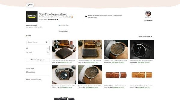 StayFinePersonalized – handmade shops and watches