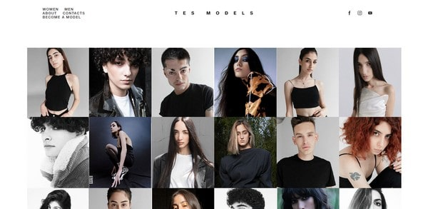 Tes Models – a fashion and models' website
