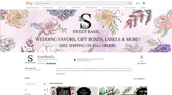 SweetBasilCo – personalized gifts