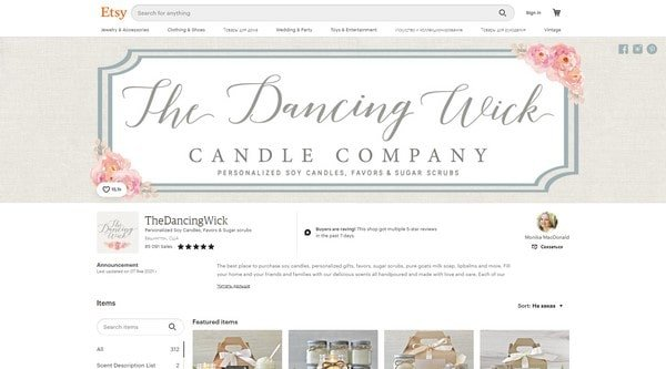 TheDancingWick – soy candles and flavors