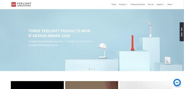 YeeLight – an online shop of lighting fixtures