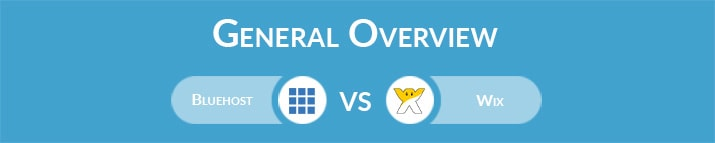 Bluehost vs Wix: General Overview