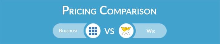 Bluehost vs Wix: General Pricing Comparison