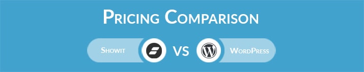 Showit vs WordPress: General Pricing Comparison