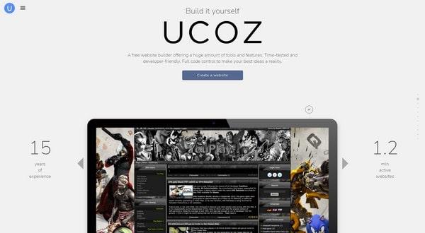 uCoz: Free Website Builder