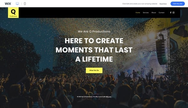 wix event template