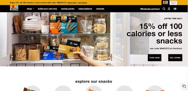 Kind Snacks – online snack shop
