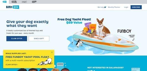 BarkBox – an online pet shop