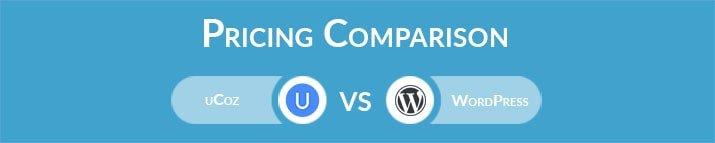 uCoz vs WordPress: General Pricing Comparison