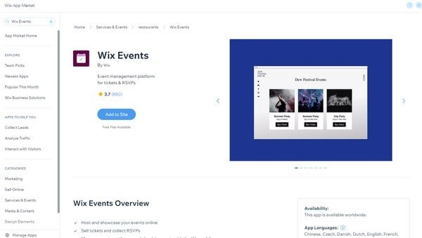 Wix Events